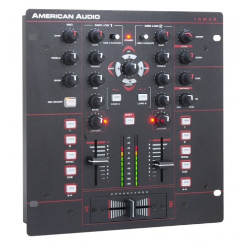 american audio 10 mxr 2 channel midilog dj mixer. Black Bedroom Furniture Sets. Home Design Ideas