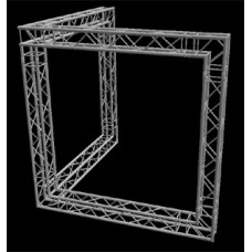10ft by 10ft Corner Wall Booth by Global Truss