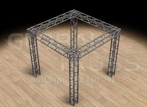 global truss sq 10x10 tradeshow booth f34. Black Bedroom Furniture Sets. Home Design Ideas