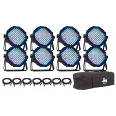 ADJ Mega Flat Pak 8 LED Par Wedding UpLighting System