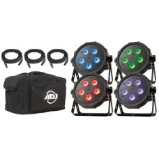 ADJ Mega Flat Tri Pak LED Par Uplighting Package