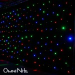 Omni Nite LED Curtain Backdrop (MultiColor LEDs on Black Drape)