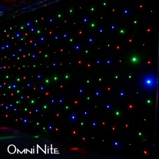 Omni Nite LED Curtain Backdrop (White LEDs on Black Drape)