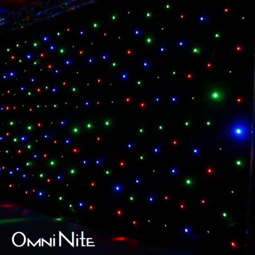 Omni Nite LED Curtain Backdrop White LEDs On Black Drape